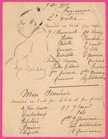 Programme Théâtre - L'EXTRA Fait Main - Dessin Par GEO SERVAIS - Comédie Par Veber - 1908 - Isménie - Gaston Malétroit - Programmes