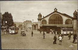 LE HÂVRE La Gare Er Le Cours De La République Tramway Oldtimer Auto Real-Photo C.A.P. Strasbourg - Gare