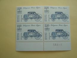 1988 France  Yv 2525 X 4 ** MNH - Stamp Day Cote 4.40 € Michel 2662A Scott B608 SG 2829 Journée Du Timbre - France