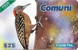 Dominican Rep. - Codetel (ComuniCard) El Carpintero Bird, 1996 Edit. - 31.03.1997, 25$, Remote Mem. Used - Dominicana