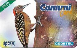 Dominican Rep. - Codetel (ComuniCard) El Carpintero Bird, 1996 Edit. - 31.03.1997, 25$, Remote Mem. Used - Dominicaanse Republiek