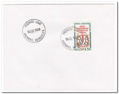 Frans Antarctica 1970, FDC, International Year Of Human Rights - FDC