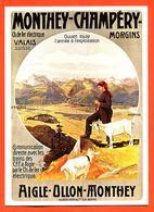 """CPM GF Publicitaire Monthey Champéry Morgins """" Aigle - Ollon - Monthey """" Chèvres - Svizzera"""