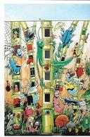 MUR PEINT STREET ART LES MURS PEINTS D ' ANGOULÊME  16486 LE JARDIN EXTRAORDINAIRE CESTAC B-D BANDE DESSINÉE ESCARGOT - Arts