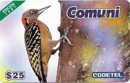Dominican Rep. - Codetel (ComuniCard) El Carpintero Bird, 1997 Edit. - 25$, Remote Mem. Used - Dominicaanse Republiek