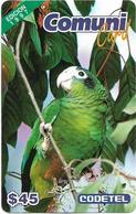 Dominican Rep. - Codetel (ComuniCard) La Cotorra Parrot, 1997 Edit. - 1997, 45$, Remote Mem. Used - Dominicana