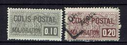 FR - N° 155 Neuf Sans Gomme (X) Et N° 158 Oblitéré - - Colis Postaux