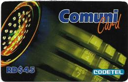 Dominican Rep. - Codetel (ComuniCard) Phone - 45RD$, Remote Mem. Used - Dominicaanse Republiek