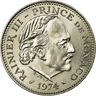 Monnaie, Monaco, Rainier III, 5 Francs, 1974, SUP+, Copper-nickel - 1960-2001 Nouveaux Francs