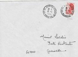 TP  N° 2376 Seul Sur Enveloppe DeSt Jean Des Champs En Poste Restante Avec Cachet Au Verso - 1961-....