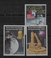 2 Series De Malta Nº Yvert 915 Y 1541/42 ** ASTROFILATELIA (SPACE) - Malta