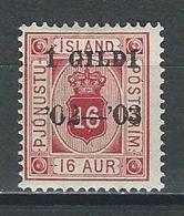 Island Mi D14 * MH - Dienstpost