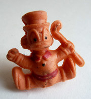 FIGURINE PUBLICITAIRE ESSO 1971 - En Gomme Ou Mousse De Plastique - DISNEY MICKEY - PICSOU Orange Type Glups - Disney