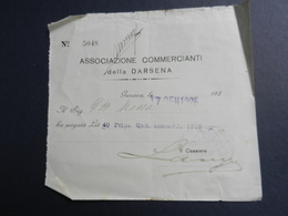 6c) GENOVA ASSOCIAZIONE COMMERCIANTI DELLA DARSENA 1925 PAGAMENTO QUOTA ASSOCIATIVA - Italia
