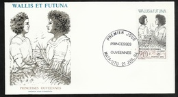 W. Et F. Lettre Illustrée  Premier Jour Mata-Utu Le 21/07/1994 Le N°466 Princesses Ouvéennes En 1903   TB - Covers & Documents