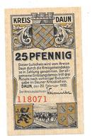 **notgeld Daun 25 Pfennig D7.2 Cat. Val 3,00 Euro - [11] Local Banknote Issues