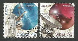 Serbien / Srbija  2009  Mi.Nr. 300 / 301 , EUROPA CEPT - Astronomie - Gestempelt / Used / (o) - Europa-CEPT