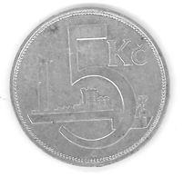 TCHECOSLOVAQUIE - CZECHOSLOVAKIA - 5 KORUN 1928 - ARGENT - SILVER - Czechoslovakia