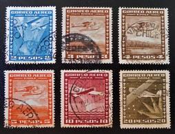POSTE AERIENNE 1934/38 - OBLITERES - YT PA 39/42 + 45/46 - Chile