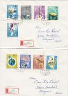 UNGARN 1965 - MiNr: 2101-2109 Komplett 2 Rekobriefe - Briefe U. Dokumente