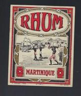 """étiquette Rhum  Martinique """" Bateau, Porteurs"""" Imp E Cuvelier  Paris - Rhum"""
