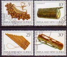 PAPUA NEW GUINEA 1969 SG #165-68 Compl.set Used Musical Instruments - Papua Nuova Guinea