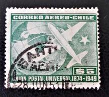 75 EME AQNNIVERSAIRE DE L'U.P.U 1950 - OBLITERE - YT PA 126 - Chile