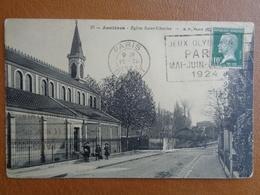 ASNIERES : EGLISE SAINT CHARLES ( TAMPON JEUX OLYMPIQUES  MAI-JUIN-JUILLET 1924 ) - Asnieres Sur Seine