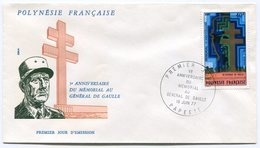 RC 12362 POLYNESIE 1977 DE GAULLE PAPEETE 1er JOUR FDC TB - FDC