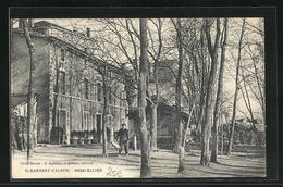 CPA St-Rambert-d`Albon, Hôtel Ollier Avec Bäumen - France