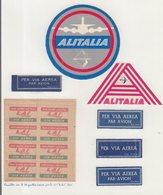AVIATION : ITALE . ALITALIA . - Étiquettes à Bagages