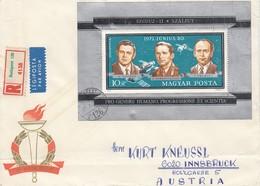 UNGARN 1971 - MiNr: 2694 Block 84 A  Auf Rekobrief - Briefe U. Dokumente