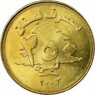 Monnaie, Lebanon, 250 Livres, 2003, TTB, Aluminum-Bronze, KM:36 - Libanon