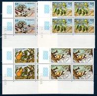 MON 1989 Les Quatre Saisons Du Poirier  Préoblitérés N° YT 102/105 En Bloc De 4 Coin Date  ** MNH - Monaco
