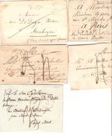 AOP20/ 5 Précurseurs De Bruges Dont 2 Période Hollandaise Entre 1828 Et 1848 1 Avec Contenu V.Paris-Bois Le Duc-Drongen - 1830-1849 (Belgique Indépendante)