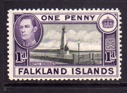 FALKLAND ISLANDS ISOLE 1938 BATTLE MEMORIAL KING GEORGE 1d  MNH - Falkland
