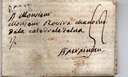 Bureau Français De ROME,le 3/3/1788,longue Lettre Pour PERPIGNAN,taxe 52. - Poststempel (Briefe)