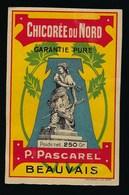 Ancienne Etiquette Chicorée Du Nord  P Pascarel Beauvais Poids Net 250g - Fruits Et Légumes