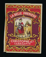 Ancienne Etiquette Chicorée  La Belle Première Christophe Et Cie Fabricant à Bourbourg Nord  Poids Net 250g - Fruit En Groenten