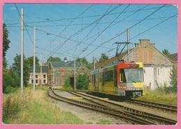 CP - TRAMWAY - TEC Charleroi - Ligne 90 Charleroi-Anderlues - Automotrice BN 7433 à Trivières. - Tram