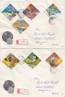 UNGARN 1978 - MiNr: 3265-3271  Komplett Auf Rekobrief - Briefe U. Dokumente