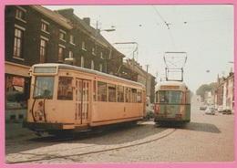 CP - TRAMWAY - SNCV - Châtelineau Ligne 56 Et 407  Sur La Ligne STIC 4 - Motrice S 41007 En 1964. - Tramways