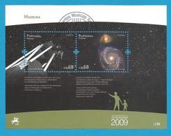 Portugal / Madeira  2009  Mi.Nr. Block 44 (297/298) , EUROPA CEPT - Astronomie - Gestempelt / Used / (o) - Europa-CEPT