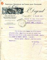 LONGUEVILLE.FABRIQUE GENERALE DE TUBES SANS SOUDURE EN CUIVRE & LAITON.J.DEGOND. - Non Classés