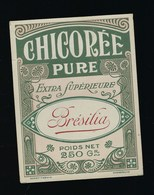 """Ancienne Etiquette Chicorée Pure Extra Supérieure """" Bresilia""""  Poids Net 250g - Fruits Et Légumes"""
