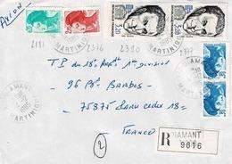 TP  N° 2390 En 2 Ex Et Diverses Marianne Sur Enveloppe En Recommandé De Diamant, Martinique - 1961-....