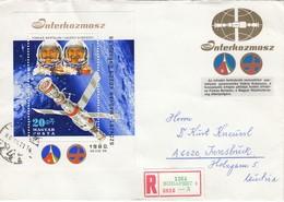 UNGARN 1980 - MiNr: 3434 Block 143 A  Auf Rekobrief - Europa