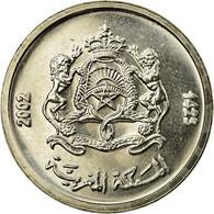 Monnaie, Maroc, Mohammed VI, 1/2 Dirham, 2002/AH1423, Paris, SPL, Copper-nickel - Maroc