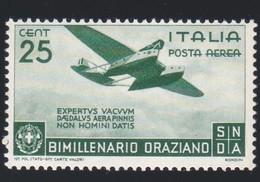 1936 Italia Regno Orazio Posta Aerea Cent. 25 N. A 95 Nuovo.A - 1900-44 Vittorio Emanuele III