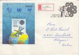 UNGARN 1983 - MiNr: 3642 Block 167 A  Auf Rekobrief - Briefe U. Dokumente